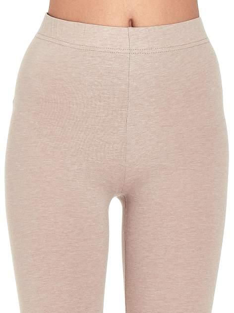 Beżowe melanżowe legginsy damskie basic                                  zdj.                                  4
