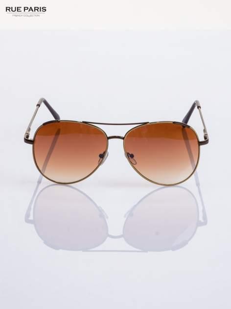 Beżowe pilotki -okulary przeciwsłonecznei typu AVIATOR filtry UV,normy CE                                  zdj.                                  2