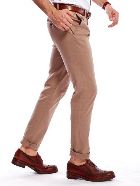 Beżowe spodnie męskie chinosy                                  zdj.                                  4