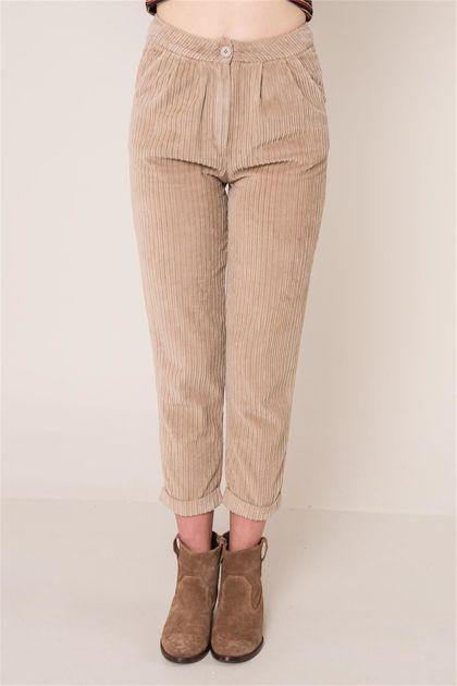 Beżowe spodnie sztruksowe BSL