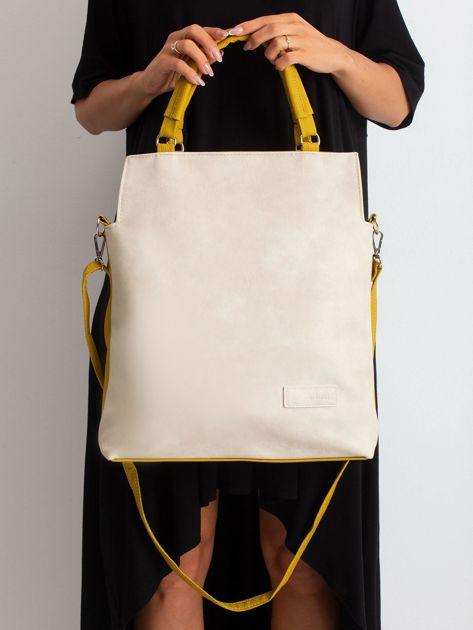 Beżowo-oliwkowa torba damska                              zdj.                              2