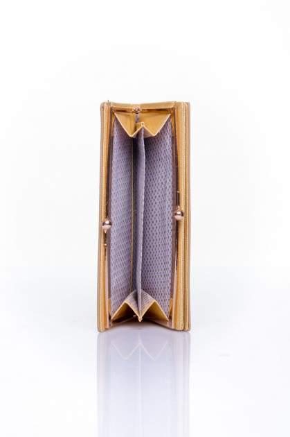 Beżowy portfel z biglem efekt saffiano                                   zdj.                                  4