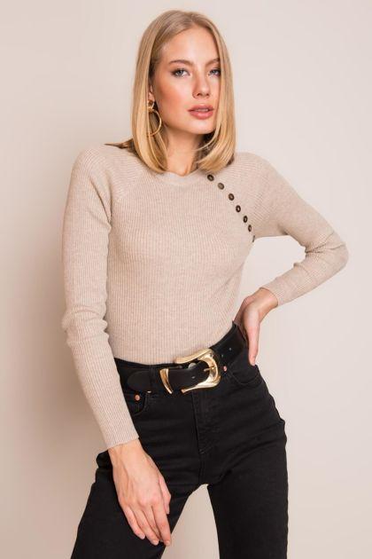 Beżowy sweter damski BSL