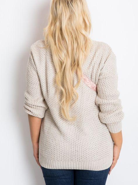 Beżowy sweter plus size Tango                              zdj.                              2