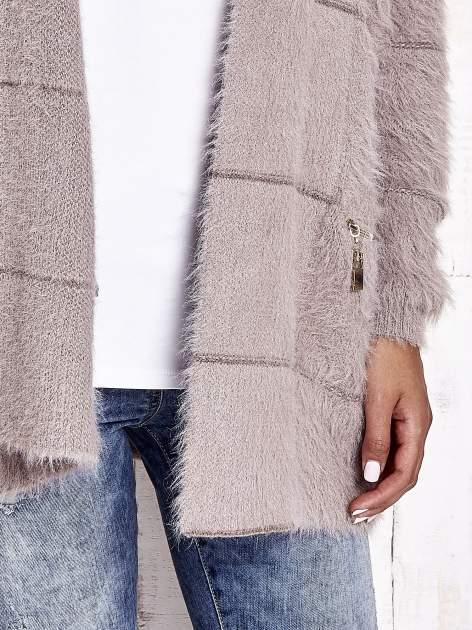 Beżowy sweter ze złotymi suwakami                                  zdj.                                  7