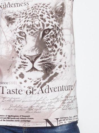 Beżowy t-shirt z nadrukiem tygrysa                                  zdj.                                  6