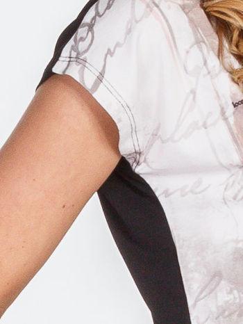 Beżowy t-shirt z nadrukiem tygrysa                                  zdj.                                  7