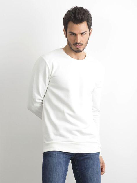 Biała bawełniana bluza męska                              zdj.                              1