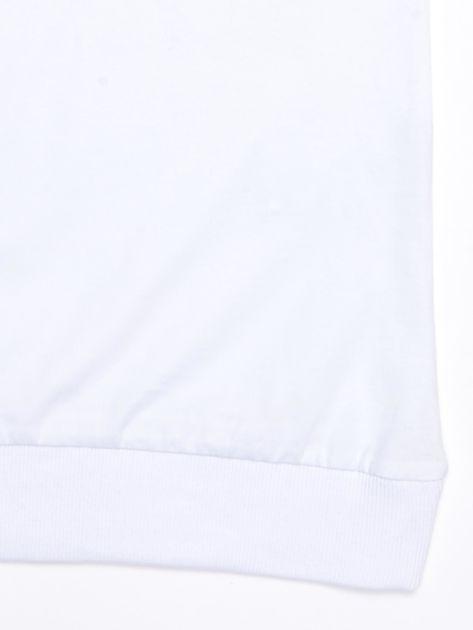 Biała bawełniana bluzka dziewczęca z palmami                              zdj.                              4