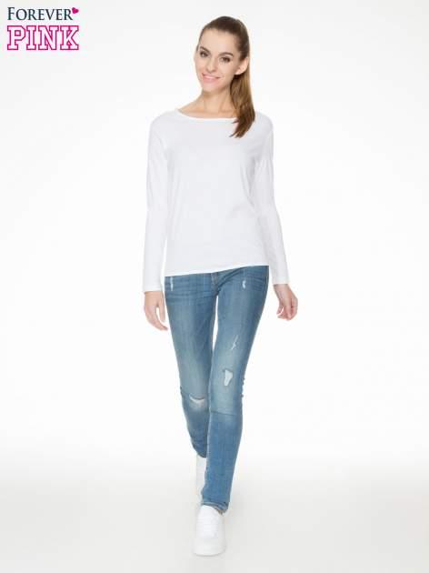 Biała bawełniana bluzka z gumką na dole                                  zdj.                                  2