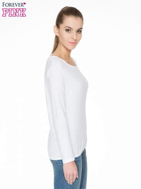 Biała bawełniana bluzka z gumką na dole                                  zdj.                                  3