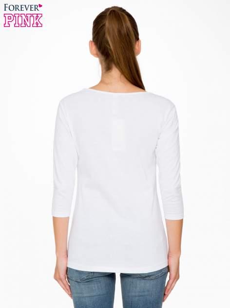 Biała bawełniana bluzka z motywem kwiatowym                                  zdj.                                  4
