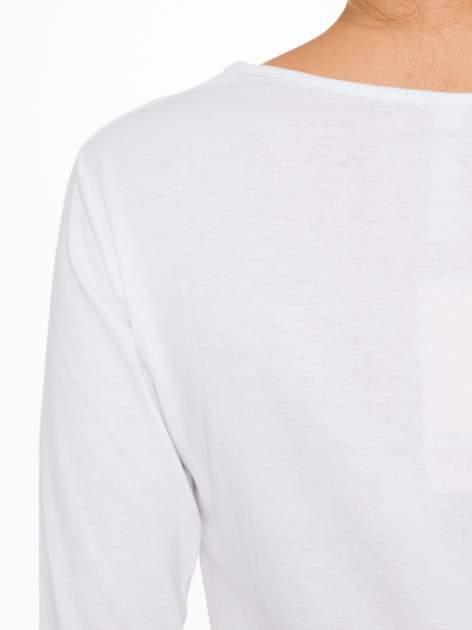 Biała bawełniana bluzka z motywem kwiatowym                                  zdj.                                  9