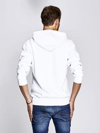 Biała bluza męska z kapturem motyw USA                                  zdj.                                  2