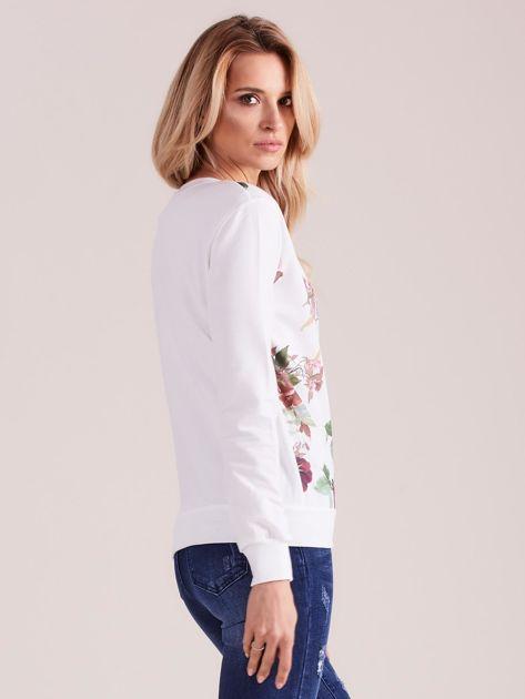 Biała bluza retro w kwiaty                              zdj.                              3