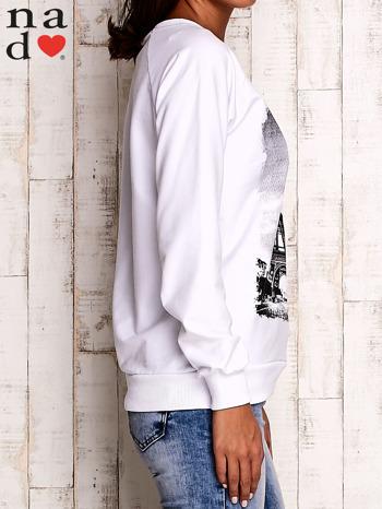 Biała bluza z motywem Wieży Eiffla                                  zdj.                                  4