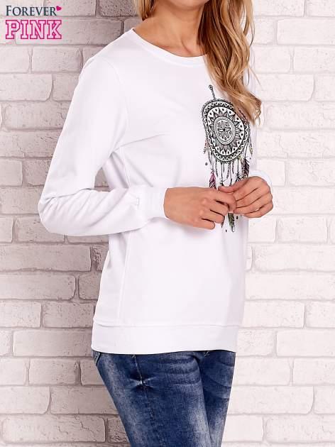 Biała bluza z nadrukiem łapacza snów                                  zdj.                                  3