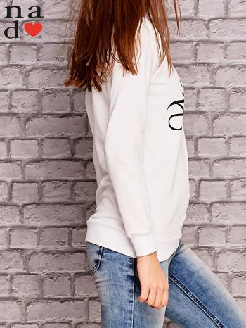 Biała bluza z napisem MAM FOCHA                                  zdj.                                  3