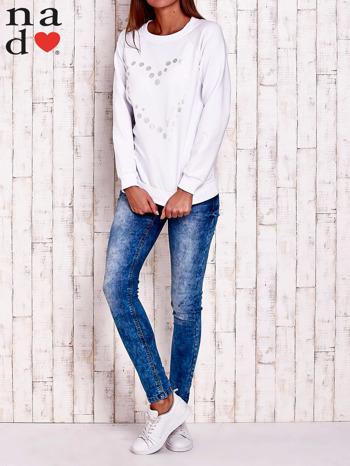 Biała bluza z wzorem serca                                  zdj.                                  2