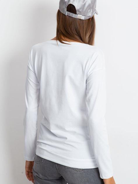 Biała bluzka Sequin                              zdj.                              2