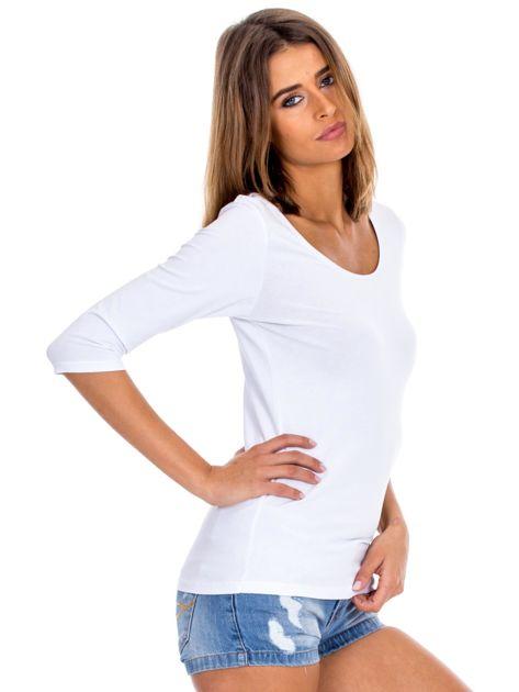 Biała bluzka damska basic                              zdj.                              5