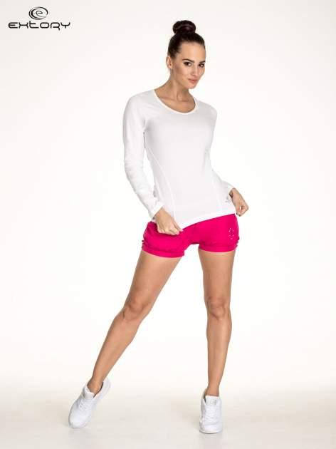 Biała bluzka sportowa basic PLUS SIZE                                  zdj.                                  2