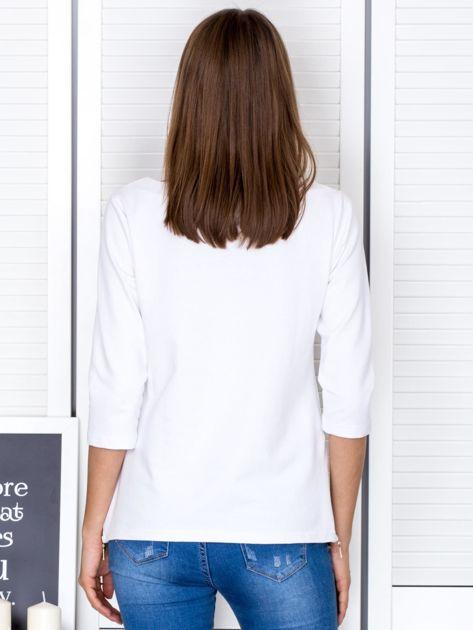 Biała bluzka z bocznymi suwakami                              zdj.                              2
