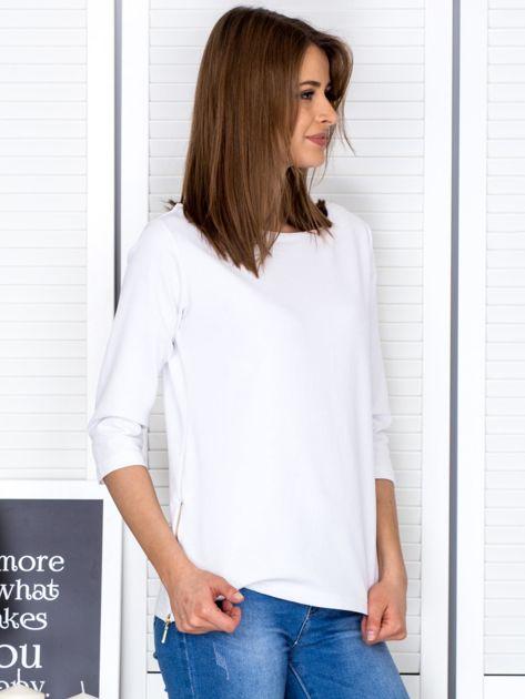 Biała bluzka z bocznymi suwakami                              zdj.                              5