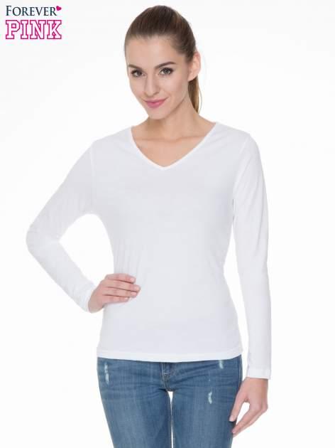 Biała bluzka z długim rękawem z bawełny