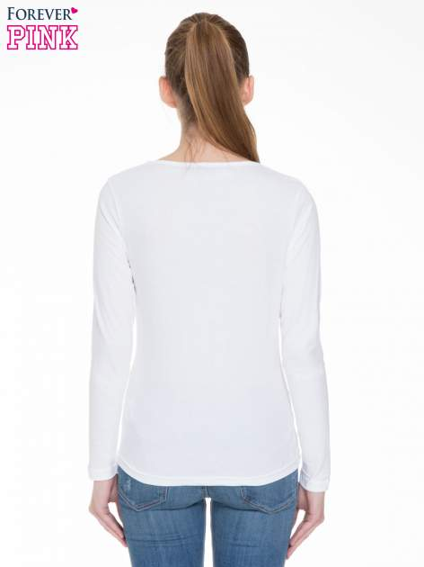 Biała bluzka z długim rękawem z bawełny                                  zdj.                                  4