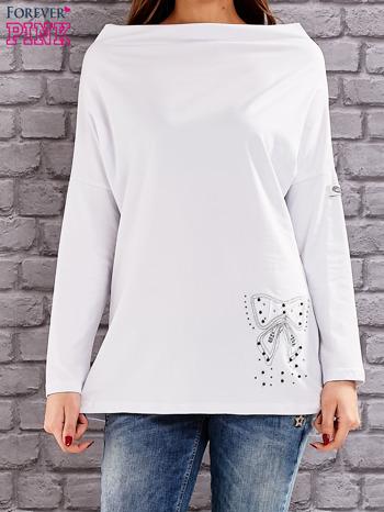 Biała bluzka z koralikową aplikacją                                  zdj.                                  1