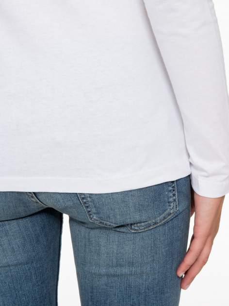 Biała bluzka z nadrukiem Audrey Hepburn                                  zdj.                                  9