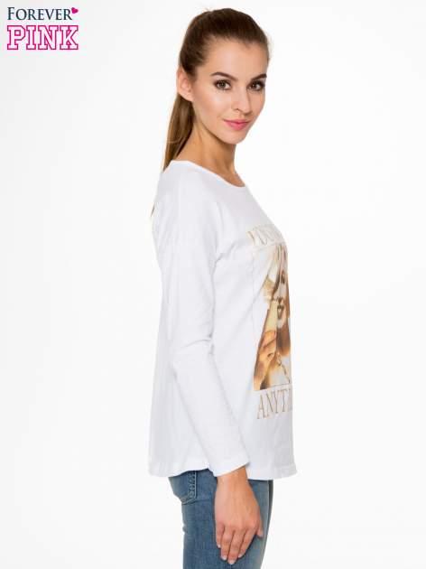 Biała bluzka z nadrukiem Marylin Monroe                                  zdj.                                  3