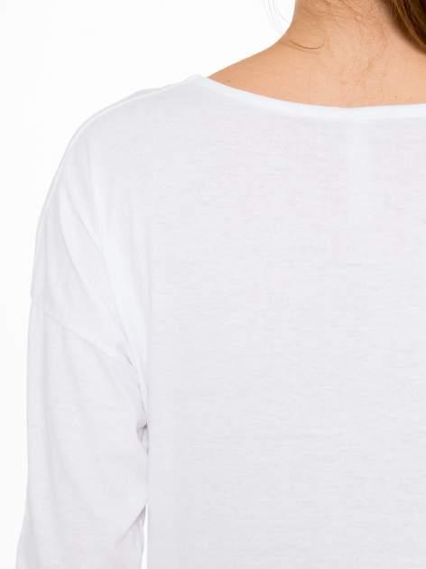 Biała bluzka z nadrukiem Marylin Monroe                                  zdj.                                  9