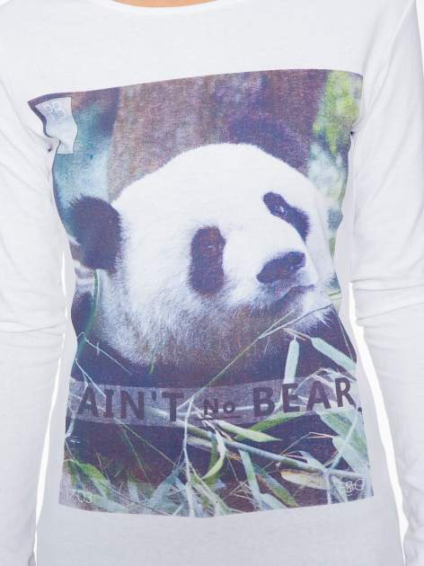 Biała bluzka z nadrukiem pandy                                  zdj.                                  6
