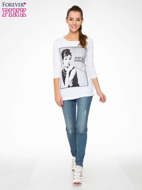 Biała bluzka z portretem Audrey Hepburn                                  zdj.                                  5