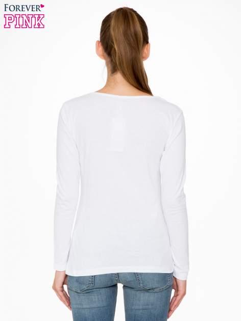 Biała bluzka ze złotym brokatowym napisem ROCK AND ROLL                                  zdj.                                  4