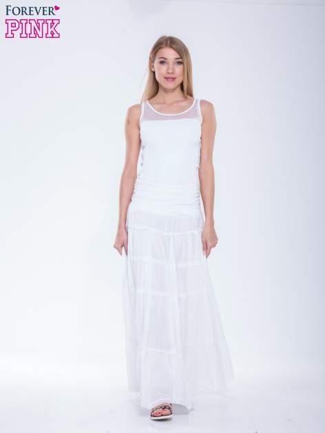 Biała długa spódnica maxi w stylu boho                                  zdj.                                  2