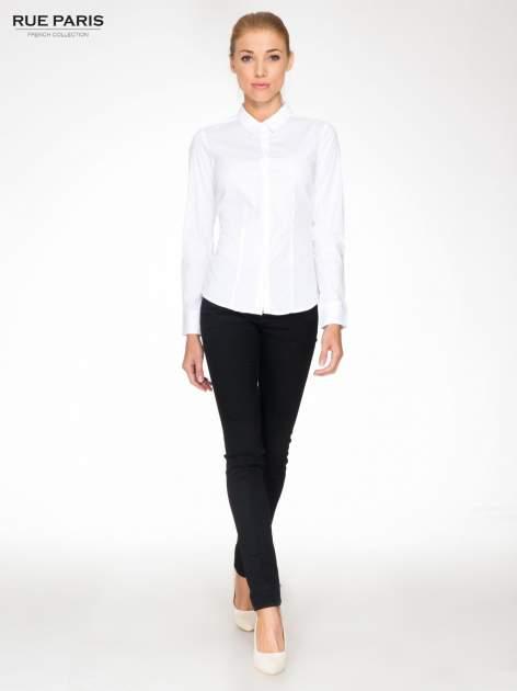 Biała elegancka koszula damska z krytą listwą                                  zdj.                                  2