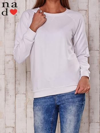 Biała gładka bluza                                  zdj.                                  1
