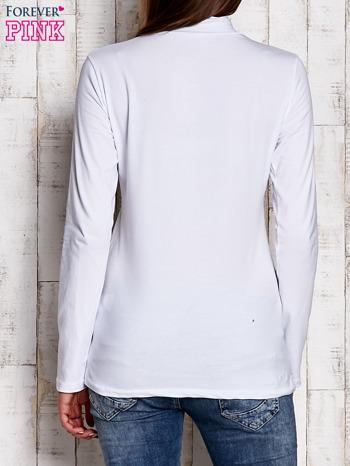Biała gładka bluzka z półgolfem                                  zdj.                                  4