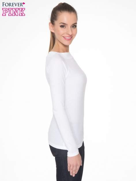 Biała gładka bluzka z reglanowymi rękawami                                  zdj.                                  3