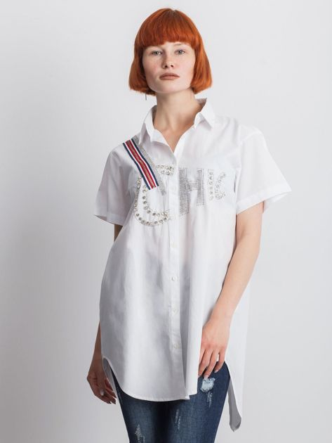 Biała koszula Cluelessly                               zdj.                              1