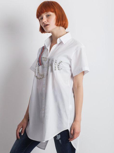 Biała koszula Cluelessly                               zdj.                              3
