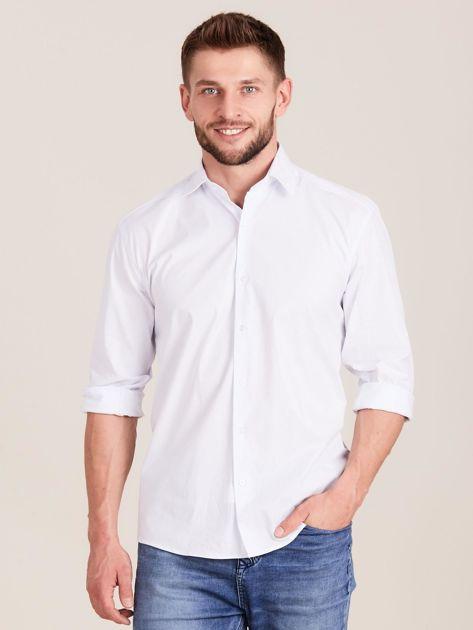 Biała koszula męska regular                              zdj.                              1