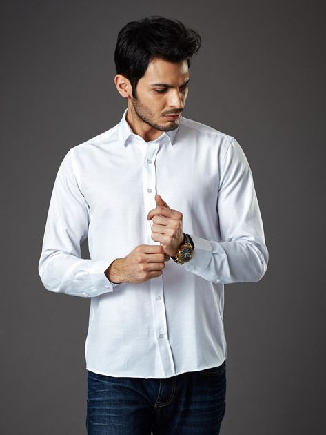 Biała koszula męska regular fit                              zdj.                              6
