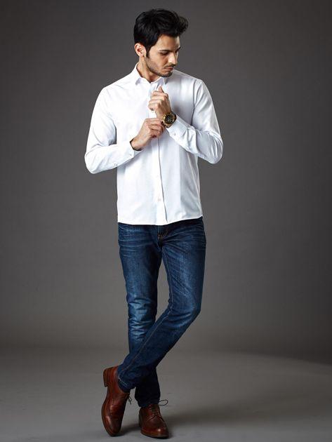 Biała koszula męska regular fit                              zdj.                              4