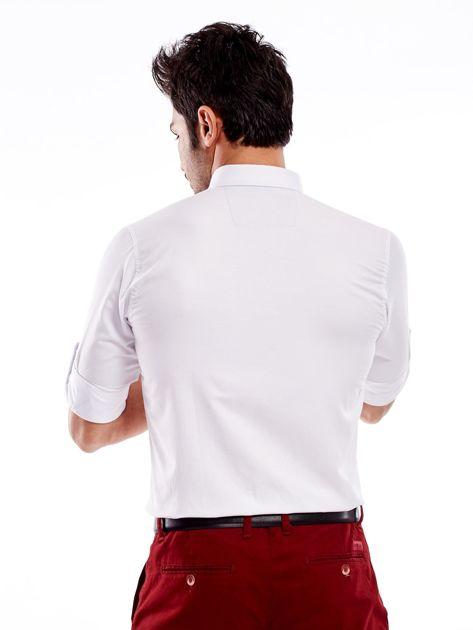 Biała koszula męska regular fit z podwijanymi rękawami                               zdj.                              13