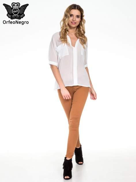 Biała koszula mgiełka z kieszonkami                                  zdj.                                  6