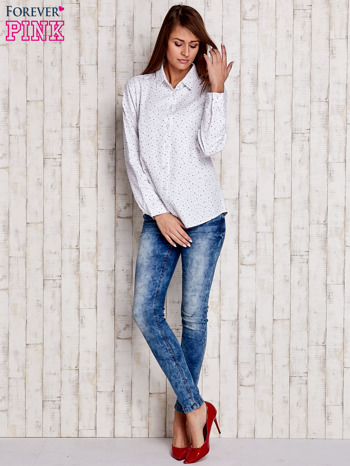 Biała koszula w drobne gwiazdki                              zdj.                              2